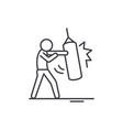 punchbag line icon concept punchbag linear vector image vector image
