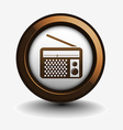 radio web icon vector image vector image