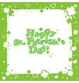 Saint Patricks congratulation postcard with text vector image vector image