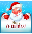 Santa winks and Merry Christmas vector image vector image
