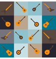 Seamless background with guitars vector image vector image