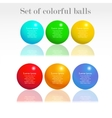 set colorful balls vector image