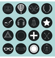 Set of hand drawn vintage objects for design vector image