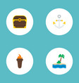 set of piracy icons flat style symbols with anchor vector image vector image