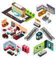 shopping mall isometric vector image