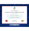 Sport theme certification participation template