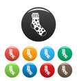 spotted sock icons set color vector image vector image