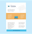 template layout for online shopping comany vector image vector image