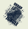 vintage urban typography t-shirt graphics vector image vector image
