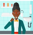 Woman brushing teeth vector image