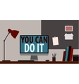 YOU CAN DO IT WORKPLACE vector image vector image