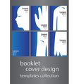 booklet cover design templates collection vector image