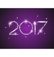 Happy New Year 2017 The figures with silver vector image