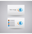 abstract creative business card with company logo vector image