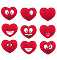 valentine s set of heart smiles vector image