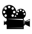 film projector cinema camera icon vector image