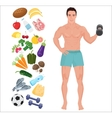 Handsome sport Health man Lifestyle infographic vector image