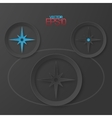 Modern flat design compass with drop shadows vector image