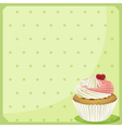 A blank stationery with a cupcake vector image