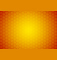 abstract orange background honeycomb ornament vector image vector image