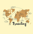 abstract world map banner vector image vector image