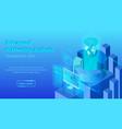 advanced marketing analysis web banner vector image vector image