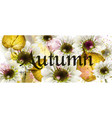 autumn flowers watercolor floral banner vector image vector image