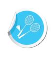 badminton BLUE LABEL vector image