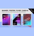 banner dj poster night club flyer card kit vector image vector image