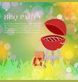 barbeque party outdoors in park summer picnic vector image