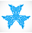 blue native ornament vector image