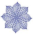 blue paisley mandala vector image vector image