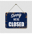 blue sign closed isolated transparent background vector image