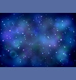 bright space background with nebula vector image