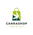 cannabis shop store logo icon vector image vector image