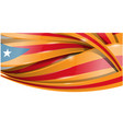 catalonia banner background flag vector image vector image