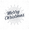 Christmas typography label Retro christmas vector image vector image