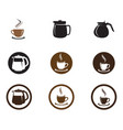coffee cup logo template icon design vector image vector image