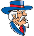 colonel logo mascot vector image vector image