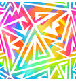 colorful geometric seamless pattern vector image vector image