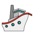 cruise boat isolated icon vector image vector image