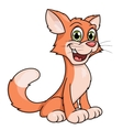Cute smiling cat vector image vector image