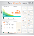 Desk calendar 2016 line abstract design template vector image