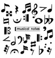 doodle musical note symbol sketch vector image vector image