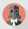 Flat Design Poison Gas Mask vector image vector image