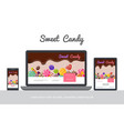 flat tasty candies concept vector image vector image