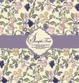 floral invitation card vector image