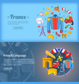 france banner set template cartoon style vector image