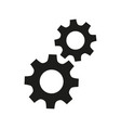 gears flat icons on white background vector image vector image