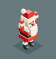 hands up santa claus isometric grandfather vector image
